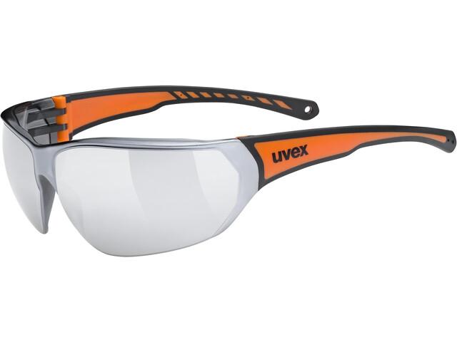 UVEX Sportstyle 204 Glasses black/orange/mirror silver